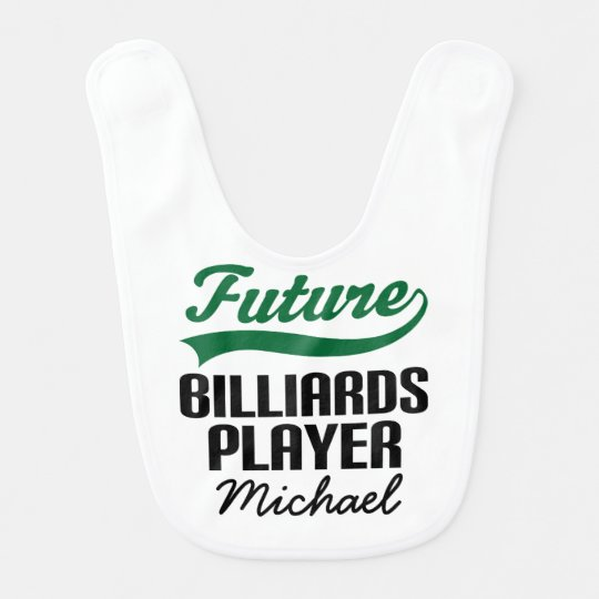 Future Billiards Player Personalized Baby Bib