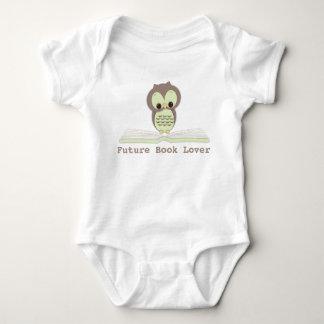 Future Book Lover Baby Neutral Cute Owl Shirt