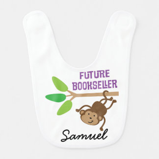Future Bookseller Personalized Baby Bib
