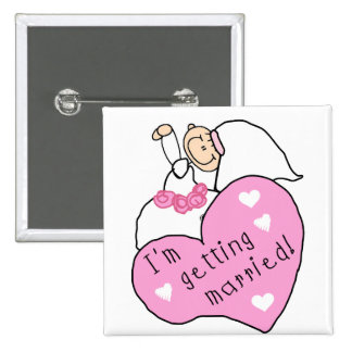 Future Bride with Heart Tshirts and Gifts Pin