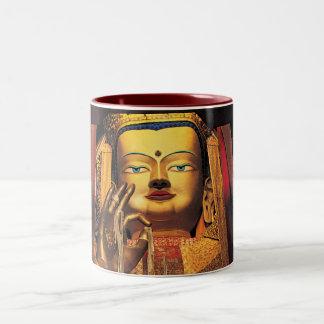Future Buddah mug red/white