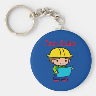 Future Builder Basic Round Button Keychain