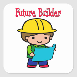 Future Builder Square Sticker