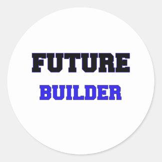 Future Builder Round Stickers