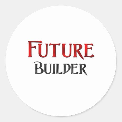 Future Builder Round Sticker