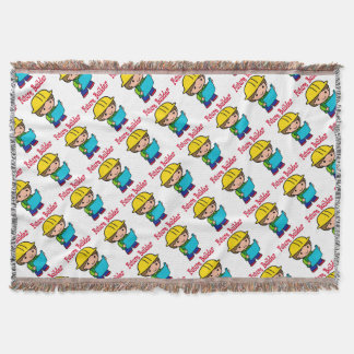 Future Builder Throw Blanket