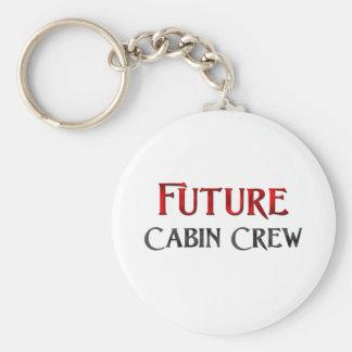 Future Cabin Crew Basic Round Button Keychain
