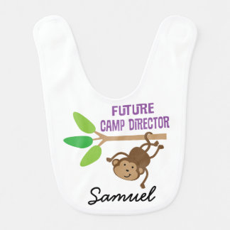 Future Camp Director Personalized Baby Bib