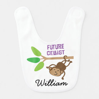 Future Cellist Personalized Baby Bib