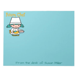 Future Chef When I Grow Up Notepad