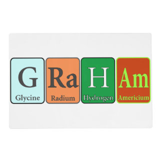 Future Chemist Placemat with Custom Name Laminated Placemat