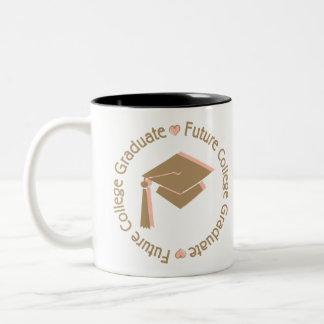 Future College Graduate Girl Two-Tone Coffee Mug