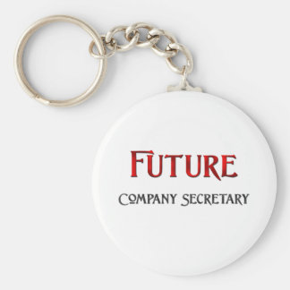 Future Company Secretary Basic Round Button Keychain