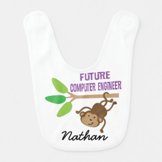 Future Computer Engineer Personalized Baby Bib