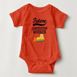 Future Construction Worker Bulldozer Outfit Baby Bodysuit