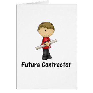 future contractor stationery note card