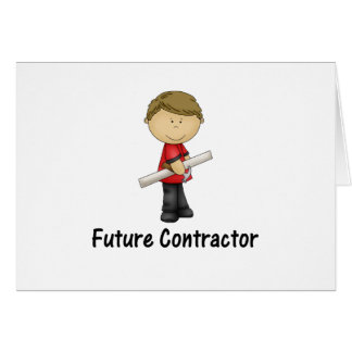 future contractor greeting card