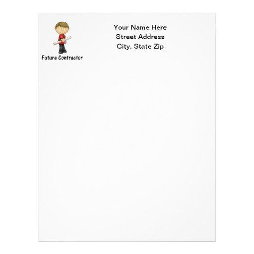 future contractor personalized letterhead