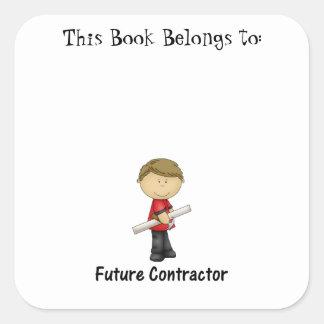 future contractor square sticker