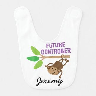 Future Controller Personalized Baby Bib