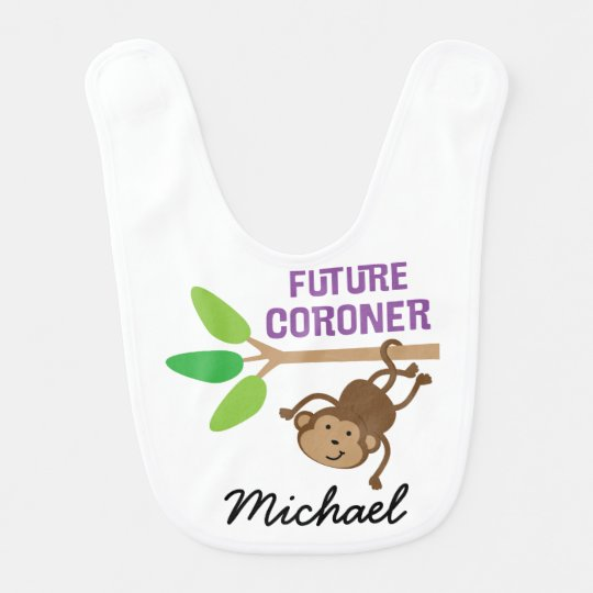 Future Coroner Personalized Baby Bib