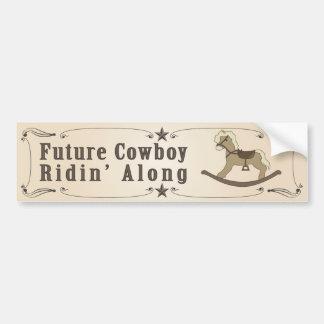 Future Cowboy Bumper Sticker