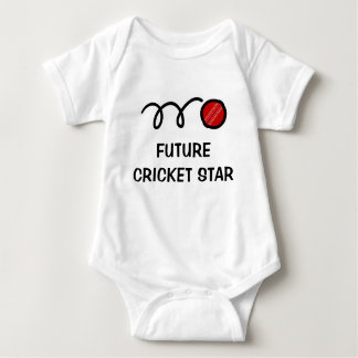 Future cricket player   Cute baby clothing Baby Bodysuit