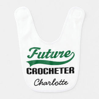 Future Crocheter Personalized Baby Bib