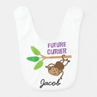 Future Curler Personalized Baby Bib