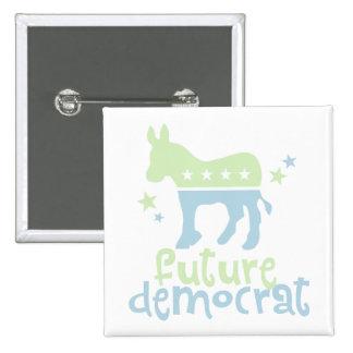 Future Democrat 2 Inch Square Button