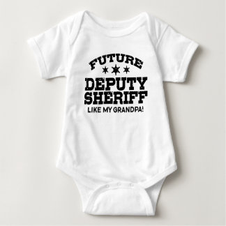 Future Deputy Sheriff Like My Grandpa Baby Bodysuit