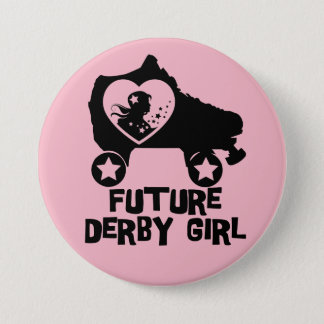 Future Derby Girl, Roller Skating design for Kids 3 Inch Round Button