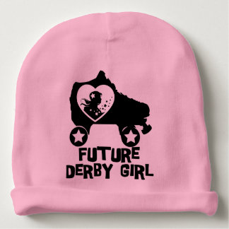 Future Derby Girl, Roller Skating design for Kids Baby Beanie