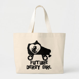 Future Derby Girl, Roller Skating design for Kids Large Tote Bag