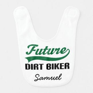 Future Dirt Biker Personalized Baby Bib