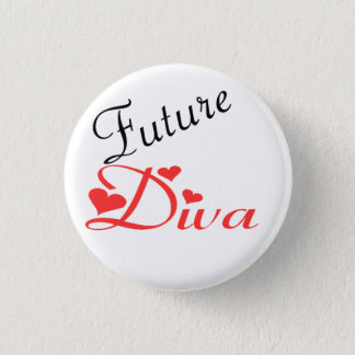 Future Diva 1 Inch Round Button