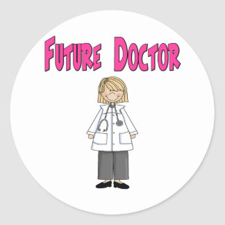 Future Doctor (Girl) Classic Round Sticker