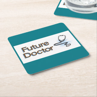 Future Doctor Square Paper Coaster