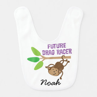 Future Drag Racer Personalized Baby Bib