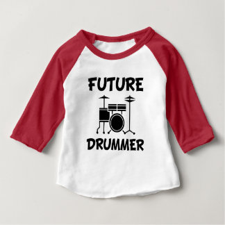 Future Drummer funny baby shirt