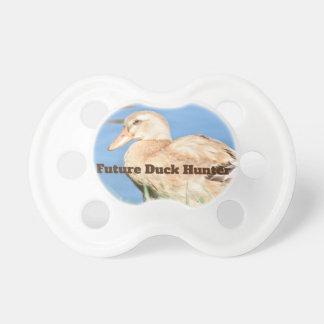 Future Duck Hunter Light Brown Duck Pacifier
