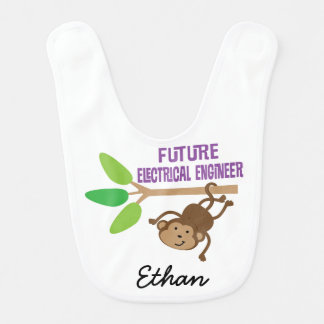 Future Electrical Engineer Personalized Baby Bib