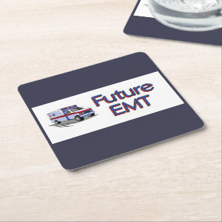 Future EMT Square Paper Coaster