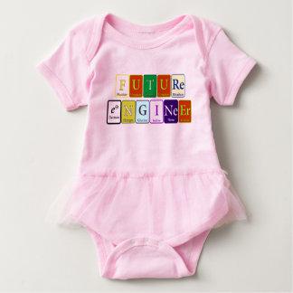 Future Engineer Tutu Design Baby Bodysuit