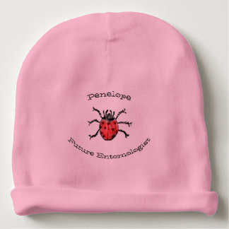 Future Entomologist Red Ladybugs Baby Girl Name Baby Beanie