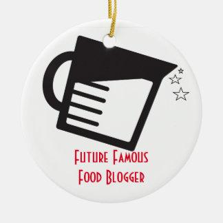 Future Famous Food Blogger Round Ceramic Ornament