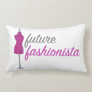 Future Fashionista Sewing Fashion Design Mannequin Lumbar Pillow