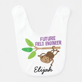 Future Field Engineer Personalized Baby Bib