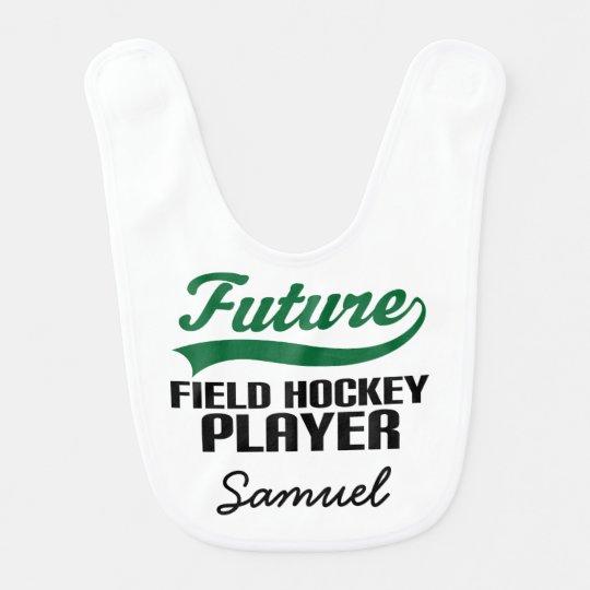 Future Field Hockey Player Personalized Baby Bib