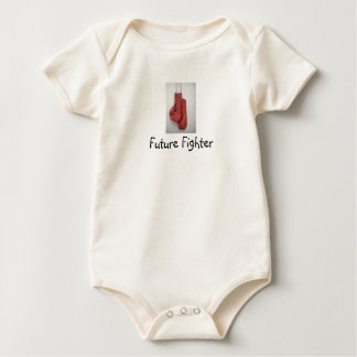Future Fighter Boxing Gloves Baby Baby Bodysuit